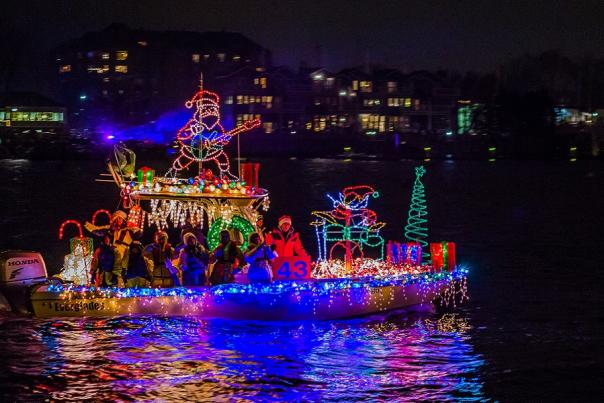 Get Festival at the Eastport Yacht Club Lights Parade