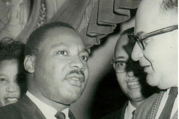 Martin Luther King, Jr. and David Apter talking about the 1963 march on Washington.