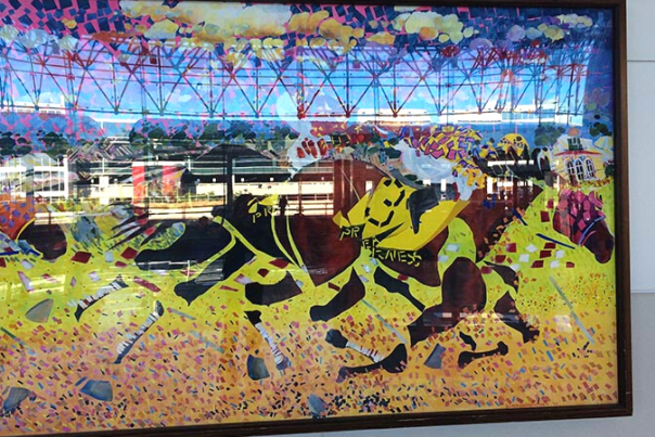 Preakness Painting between Lost and Found at BWI