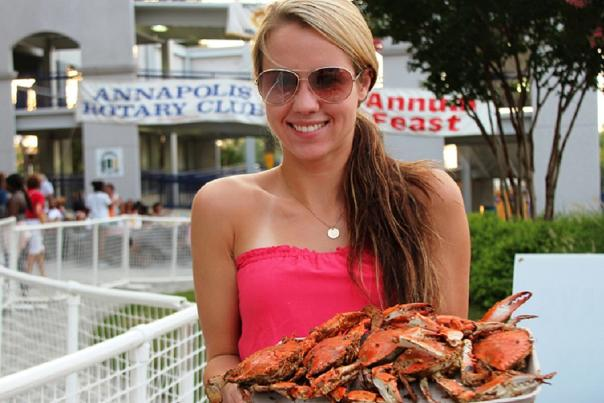 Pretty Girl at Crab Feast