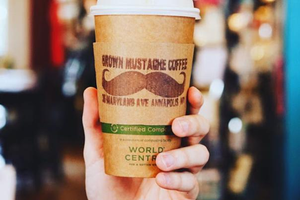 brown mustache coffee