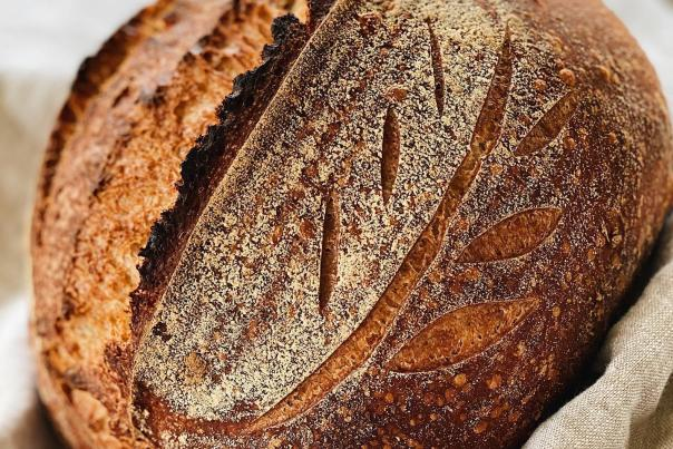 A fresh sourdough loaf from In Grano.
