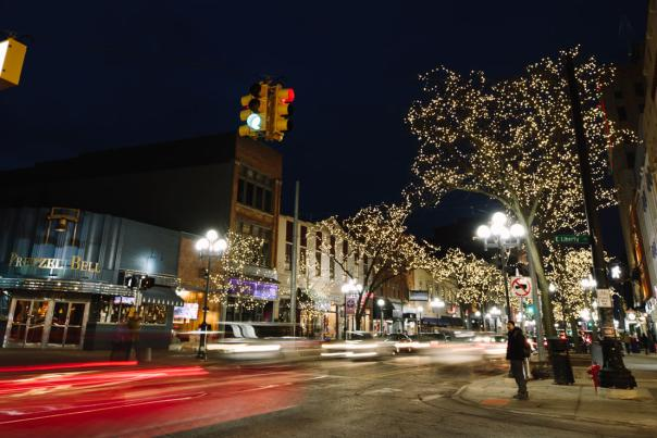 Main Street Ann Arbor at Night