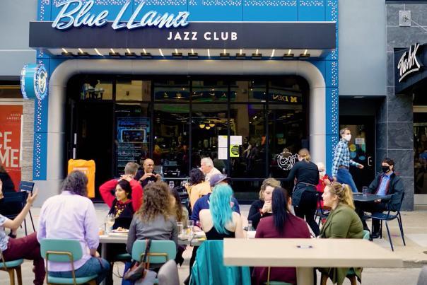 Blue Llama Jazz Club outdoor dining