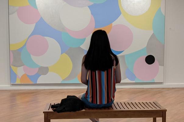 Arlington Museum of Art Knox Martin large painting