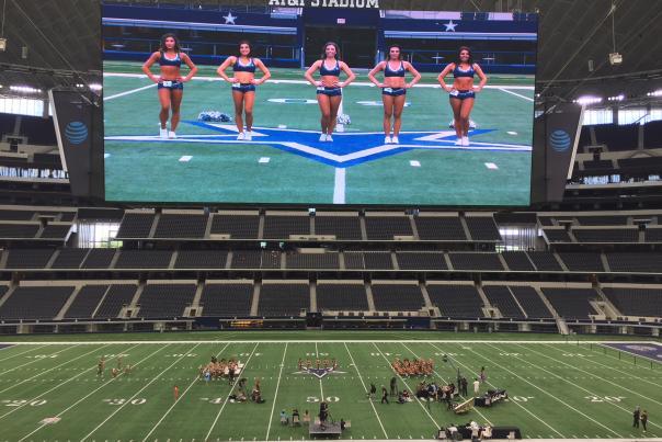 DCC Cheerleader tryouts