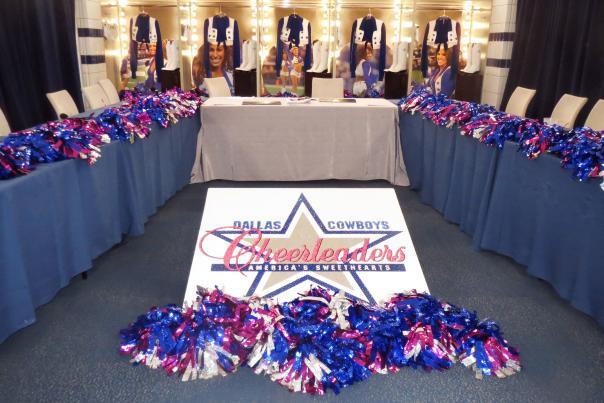 Dallas Cowboys Cheerleader Auditions Judges' room