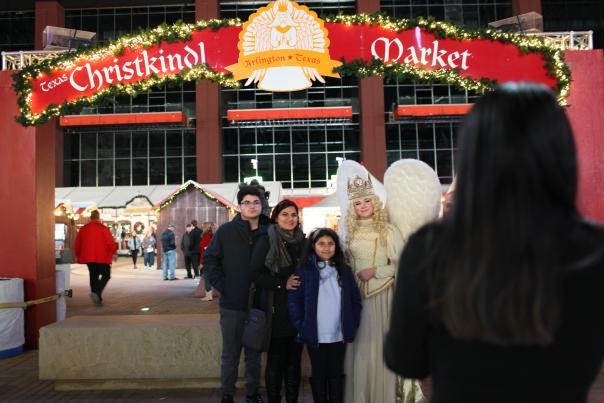 Texas Christkindl Market angel and family