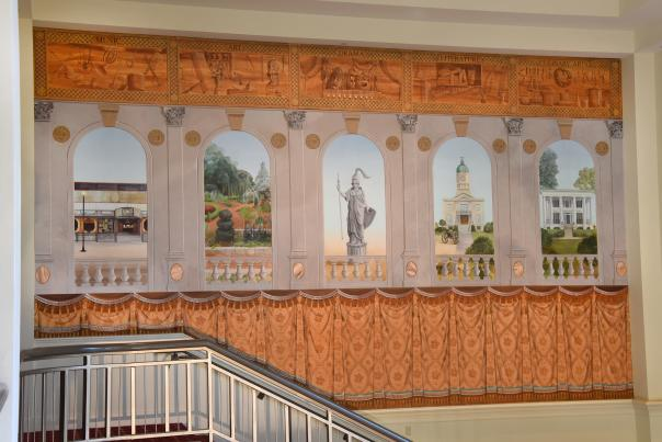 The Classic Center theatre new mural