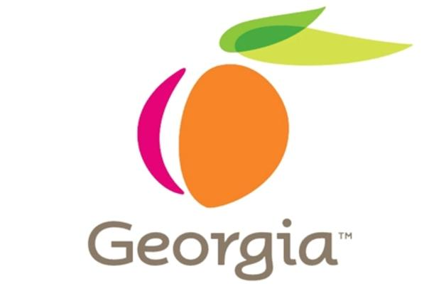 Explore Georgia peach logo