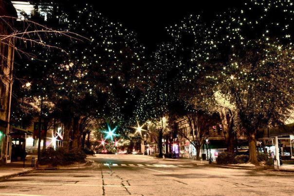 Christmas Lights in Downtown Athens