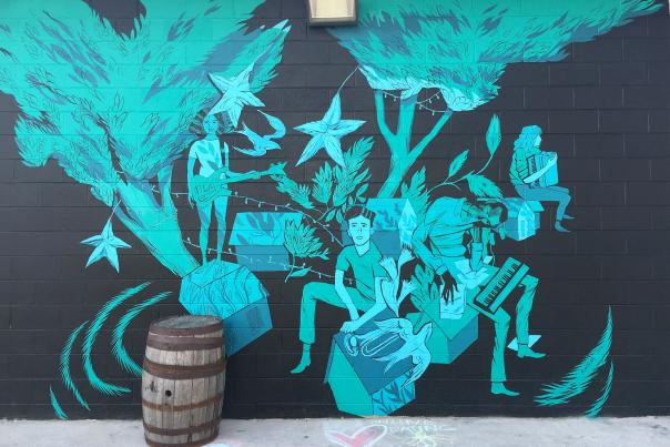 Anthony Wisher Mural at Creature Comforts