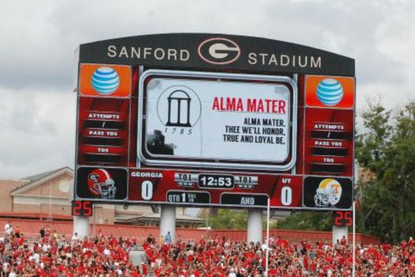 Sanford Stadium Scoreboard Alma Mater