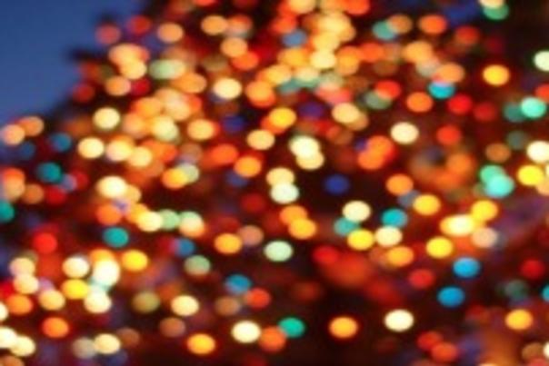 sparkly holiday lights