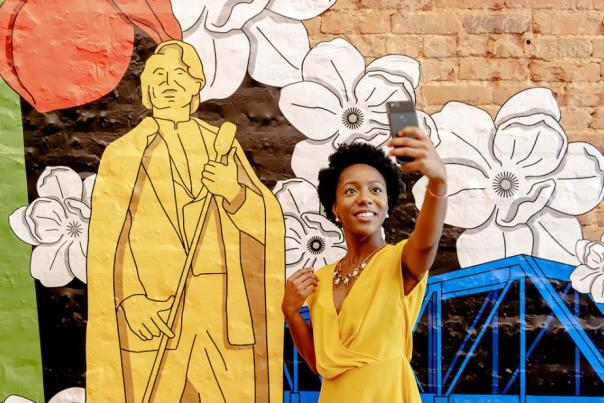 james brown; mural; public art; augusta