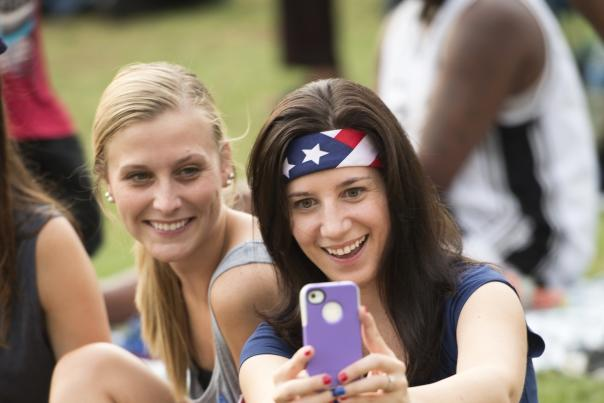 Cropped of Girls at Independence Day Celebration