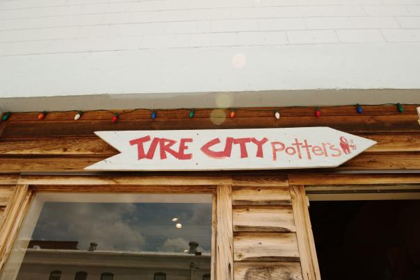 Tire City Potters Sign Detail