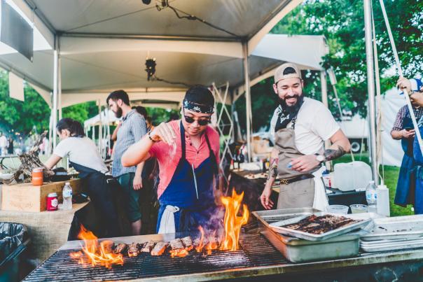 Al Fuego at Hot Luck Fest 2018. Credit Drew DeGennaro.