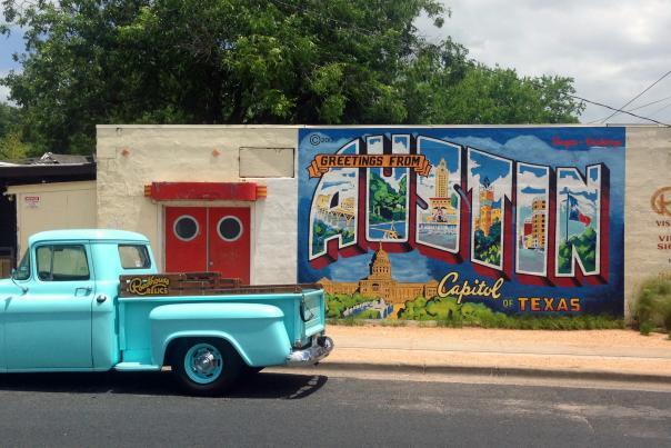 Austin Mural at Roadhouse Relics. Credit Visit Austin, 2014.