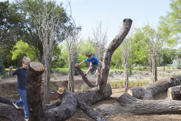 Children Playing at Lady Bird Johnson Wildflower Center. Credit Jessica Pages.