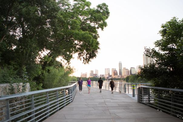 The Boardwalk at Lady Bird Lake. Courtesy of The Trail Foundation.