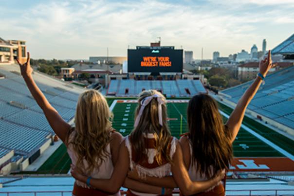 UT Cheerleaders - DKR Texas Memorial Stadium