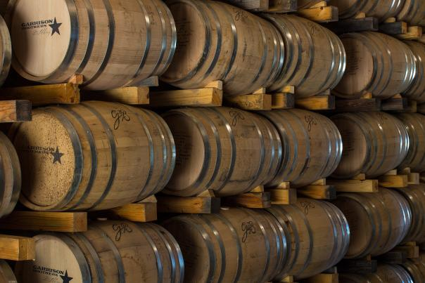 Bourbon Barrels. Courtesy of Garrison Brothers Distillery.