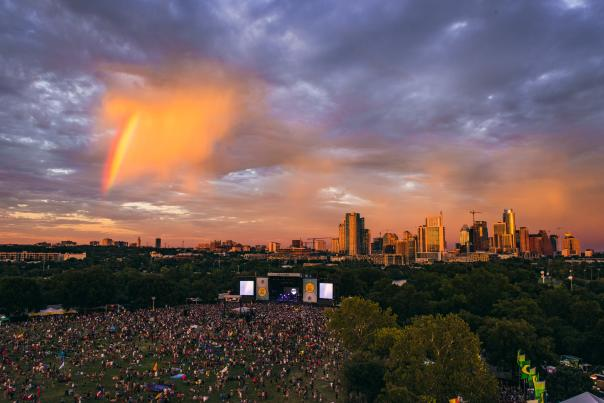 ACL 2016 Aerial, Zilker Park. Credit Charles Reagan Hackleman. LIMITED USAGE. Courtesy Austin City Limits Music Festival.