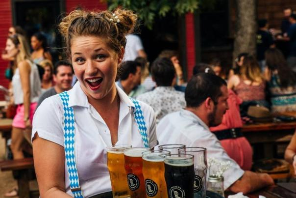 Banger's Waitress. Courtesy Banger's Sausage House & Beer Garden.