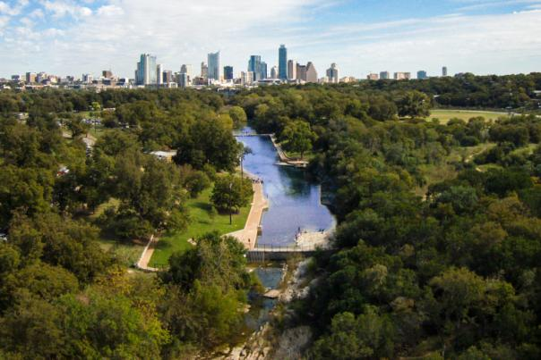 LIMITED USAGE, BLOG ONLY. Barton Springs Pool. Credit Lars Plougmann, courtesy of RootsRated.