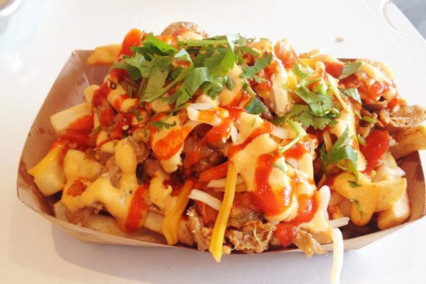 Chi'lantro BBQ, Kimchi Fries.