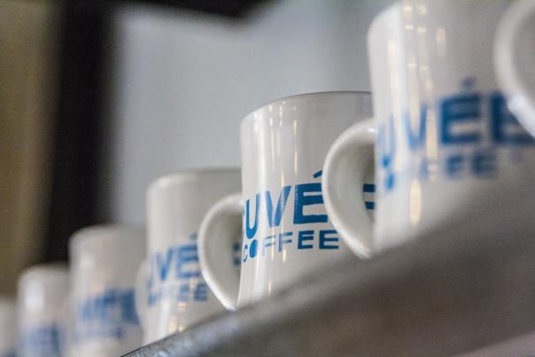 Coffee mugs. Courtesy of Cuvée Coffee.