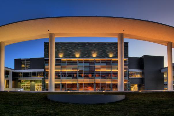 Long Center exterior. Credit Scott Melcer.