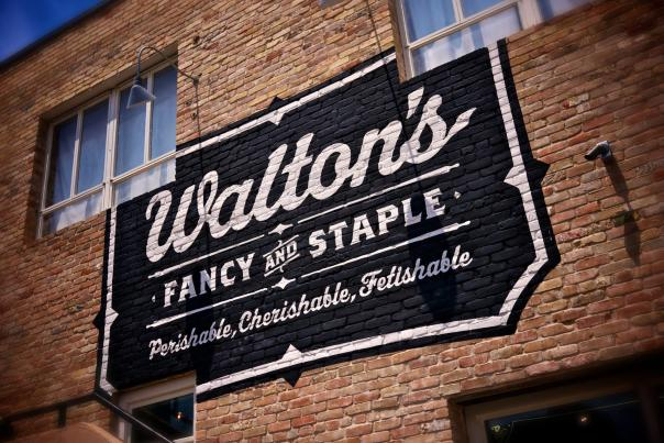 Walton's Fancy and Staple Exterior Sign. Courtesy of Walton's Fancy and Staple.