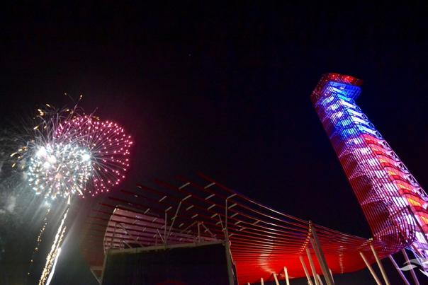 Fireworks at COTA for Willie Nelson's 4th of July Picnic