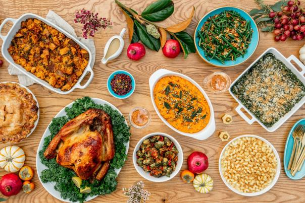 Thanksgiving spread. Courtesy of Fresa's
