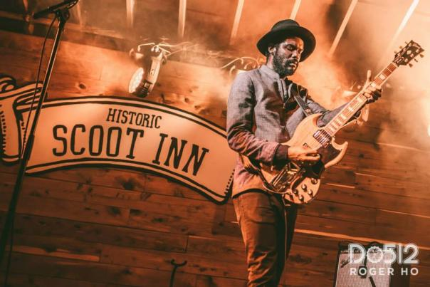 Gary Clark Jr at the Historic Scoot Inn. Courtesy of Roger Ho.