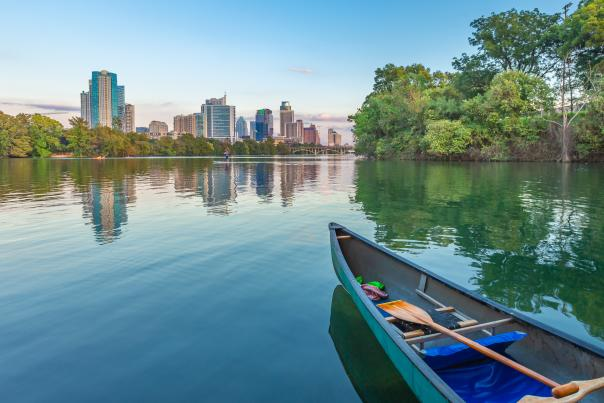 Lady Bird Lake Canoe. Credit Pierce Ingram_Expires September 2022