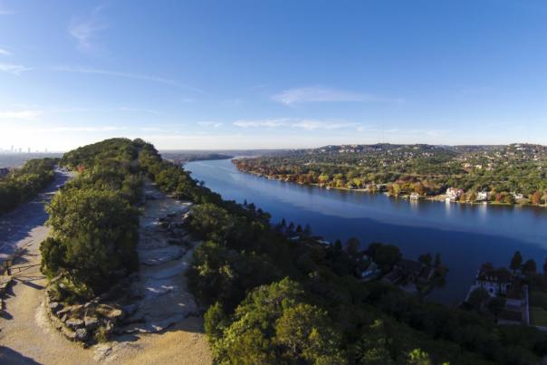 Lake Austin and Mount Bonnell. Credit Lars Plougmann, courtesy of RootsRated. LIMITED USAGE.