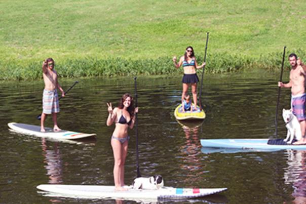 Paddle Boarding in Marble Falls. Courtesy of Marble Falls / Lake LBJ CVB.