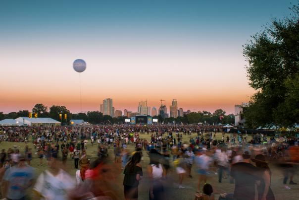 ACL Fest twilight skyline, 2016. Credit Charles Reagan Hackleman.