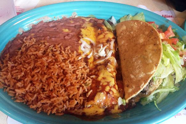 Matt's El Rancho #2 Lunch Special. Courtesy of Gary Bond.