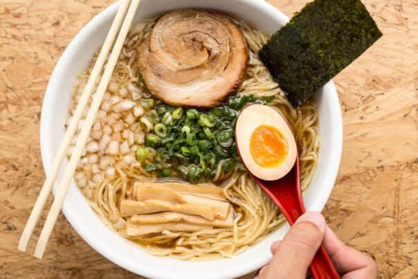 Ol' Skool Bowl, Ramen Tatsu-Ya. Credit Lobosucio Creative.