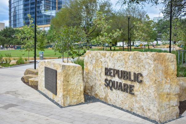 Republic Square Park. Courtesy of Downtown Austin Alliance.