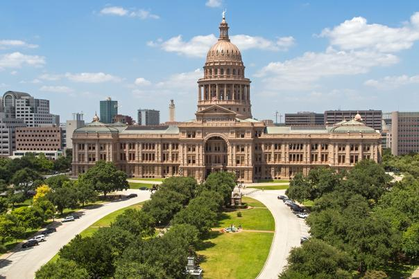 Texas State Capitol, South Facade 2015. Courtesy of the Texas State Preservation Board. FOR ACVB USE ONLY.
