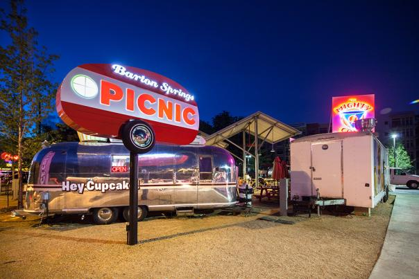 The Picnic Food Truck Park at Barton Springs. Photo Credit Lars Frazer.