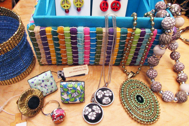 Local Jewelry at the Austin Visitor Center & Gift Shop.