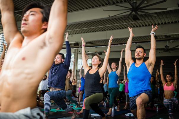 Wanderlust Yoga, High Lunge. Credit Neil Gandhi.