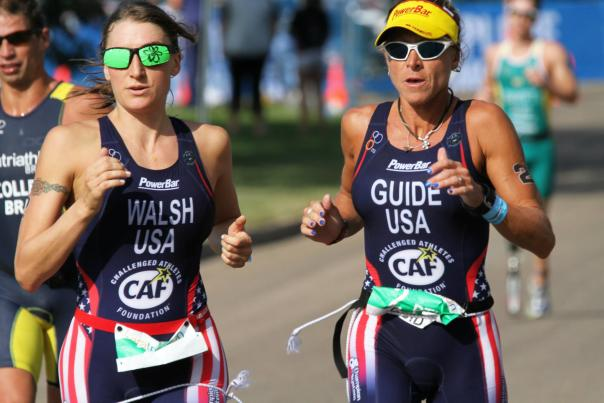 Walsh at Paratriathlon World Championships 2014. Courtesy of Patricia Walsh.