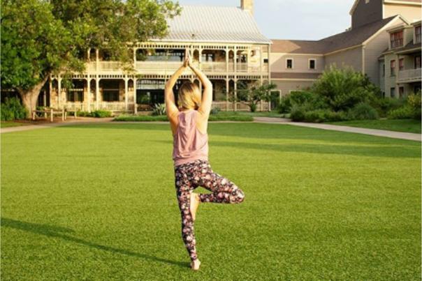 Yoga at Hyatt